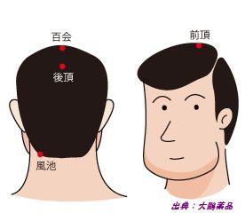 頭皮の4つのツボ