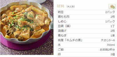 キムチ納豆鍋で薄毛対策