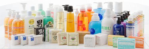 石鹸シャンプーの種類
