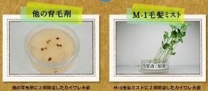 M-1育毛ミストはアルコール無添加で安全