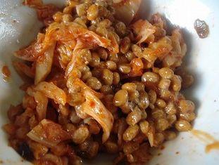 キムチ納豆で薄毛対策