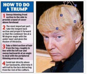 ハゲで頭皮縮小法の失敗がトランプ大統領の髪型の理由