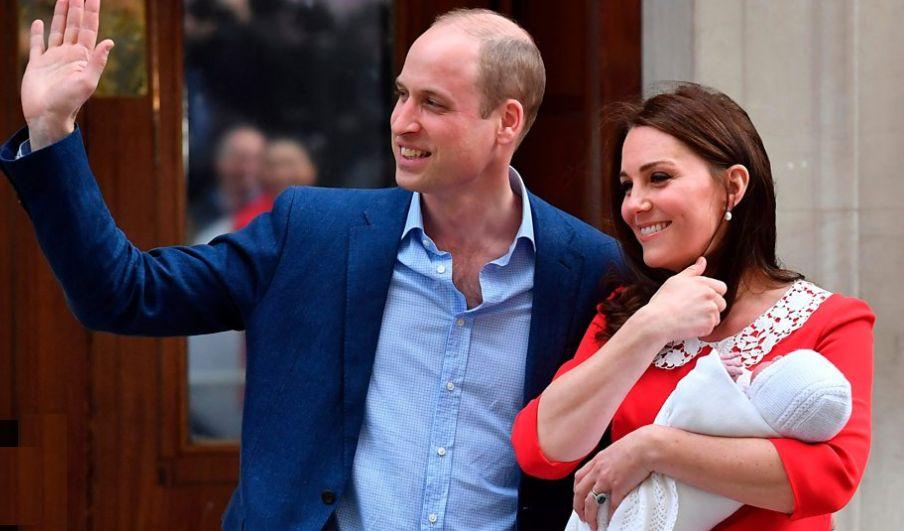 待望の第三子誕生で喜ぶ薄毛のウイリアム王子